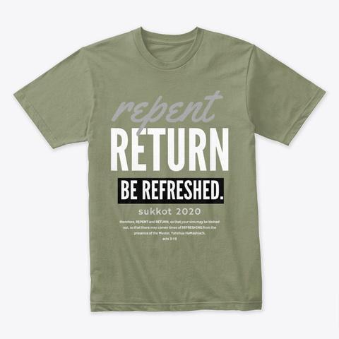 Sukkot 2020 Apparel Light Olive T-Shirt Front