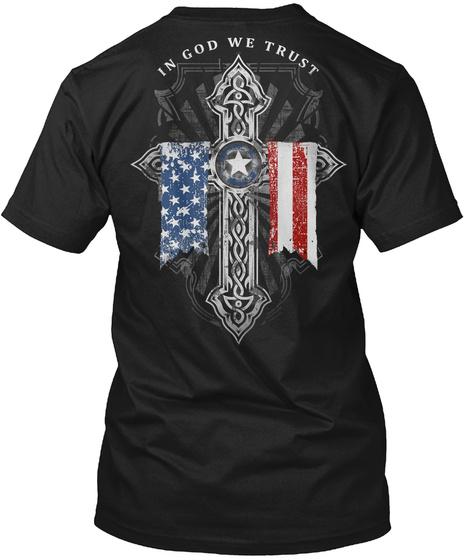 In God We Trust Black T-Shirt Back