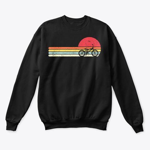Cycling Shirt Retro Style T Shirt Black T-Shirt Front