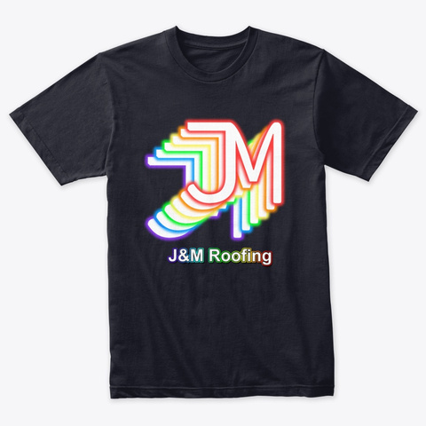 John And Maxwell Roofing Retro Vintage Navy T-Shirt Front