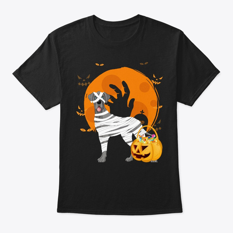Great Dane Halloween Black T-Shirt Front