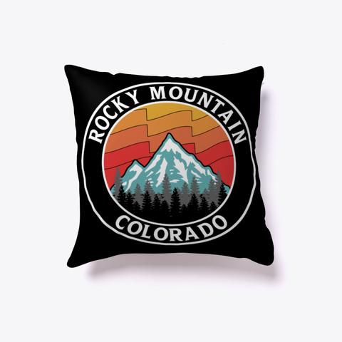 Rocky Mountain Pillow Black T-Shirt Front