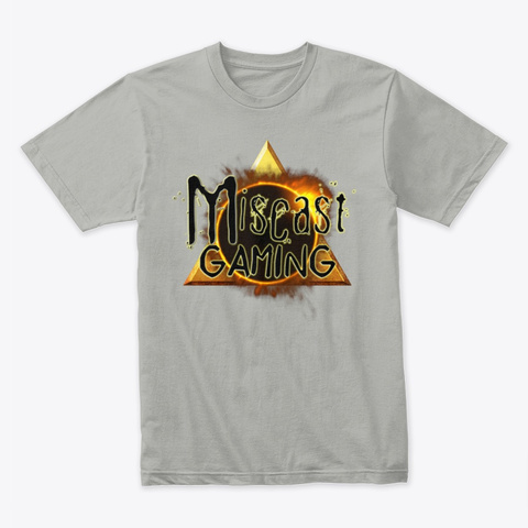 Miscast Gaming Light Grey T-Shirt Front