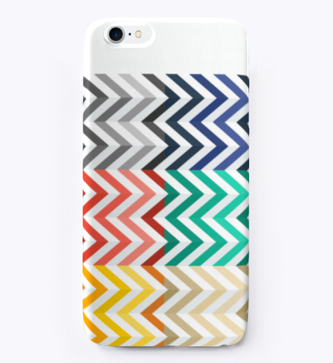 Pattern Design Rainbow Phone Case White T-Shirt Front