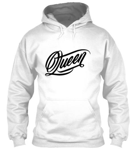 Queen 01 White T-Shirt Front