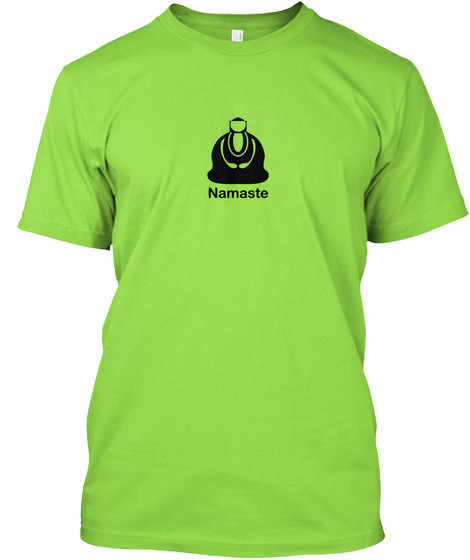 Namaste Lime T-Shirt Front