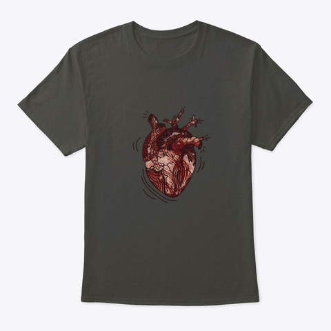 Eat Your Heart Out Smoke Gray T-Shirt Front