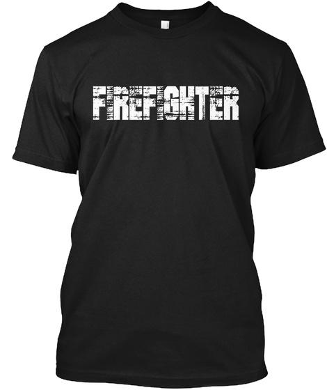 Firefighter Black T-Shirt Front