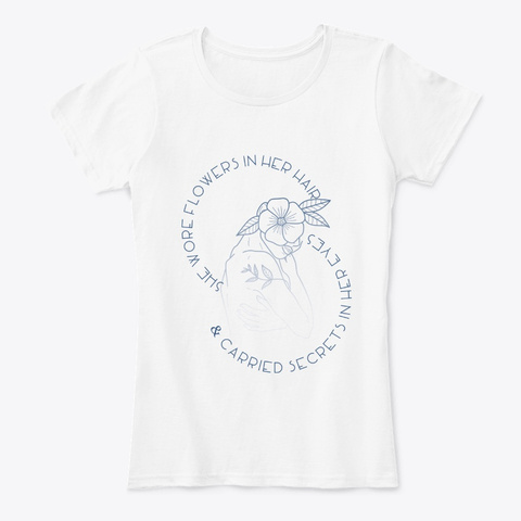 Women's Secrets White T-Shirt Front