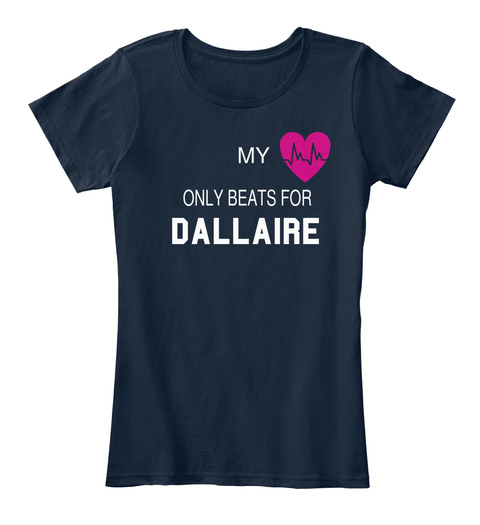 My Only Beats For Dallaire New Navy T-Shirt Front