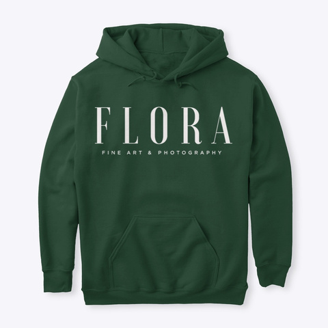 Flora Fine Art And Photography Merch Forest Green T-Shirt Front