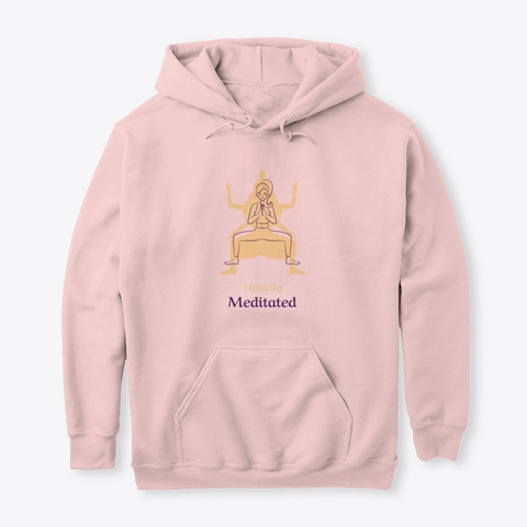 Heavily Meditated  Light Pink T-Shirt Front