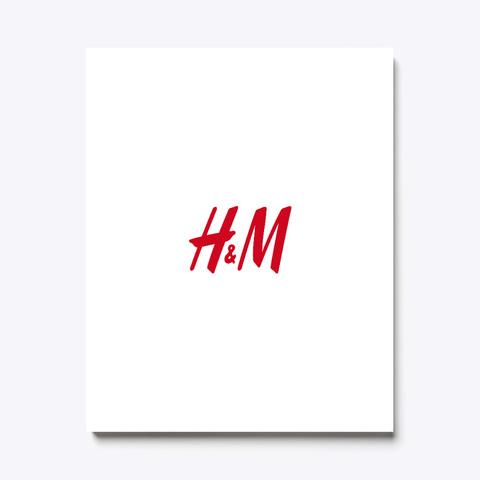 H&M  Canvas Art  White T-Shirt Front