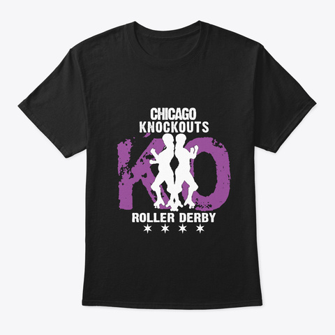Chicago Knockouts Punisher Purple Black T-Shirt Front