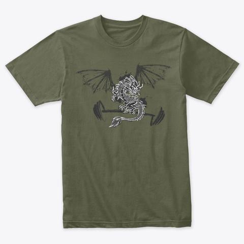 Jkc Dragon Military Green T-Shirt Front