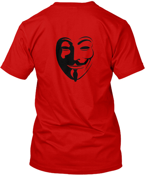 Anonymous Classic Red T-Shirt Back