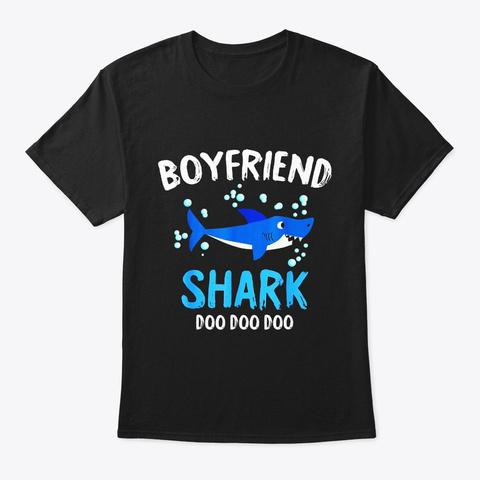 Boyfriend Shark Doo Doo Halloween Black T-Shirt Front