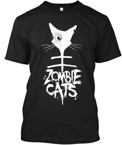 Zombie Cats Black T-Shirt Front