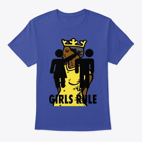 Queens Rule Deep Royal T-Shirt Front