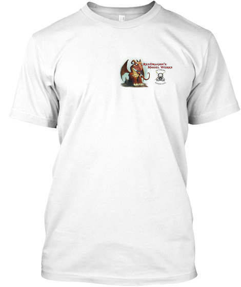 Reddragon's Model Werrr White T-Shirt Front