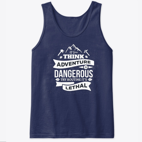 Tank Top Adventure Lethal 1 Navy Tank Top Front