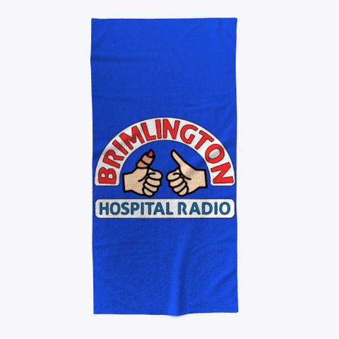Brimlington Hospital Radio Beach Towel Royal Blue T-Shirt Front