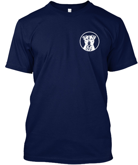 Faithful And True Pit Bull Navy T-Shirt Front