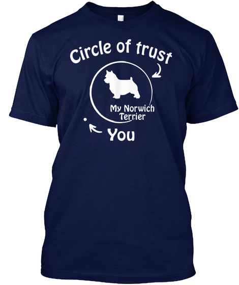 Norwich Terrier Navy T-Shirt Front