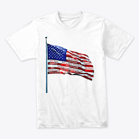 America Montage White T-Shirt Front