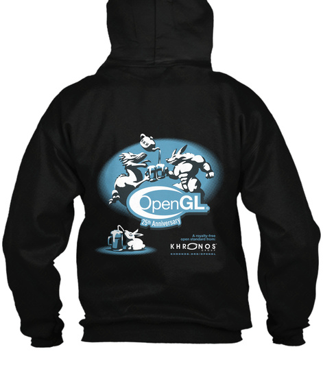 Open Gl 25th Anniversary Khronos Black Sweatshirt Back