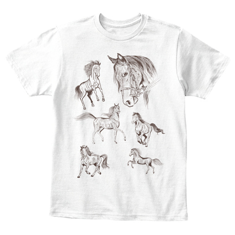 Horse Children T Shirt White T-Shirt Front