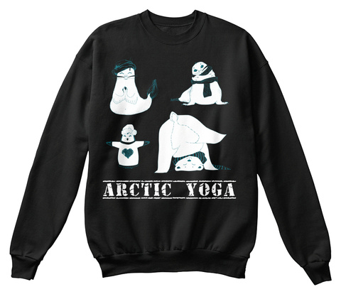 Arctic Yoga Black T-Shirt Front