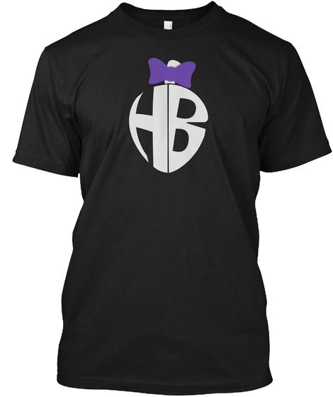 Hb Black T-Shirt Front