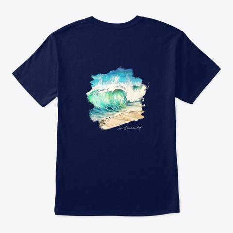 Turtle & Wave Navy T-Shirt Back