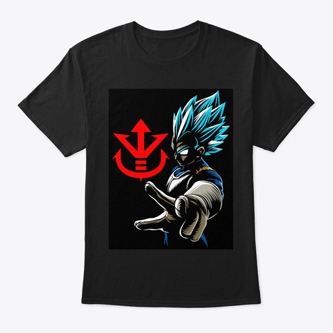 Vegeta Sombra Black T-Shirt Front