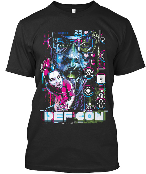 Def Con February Stash Black T-Shirt Front