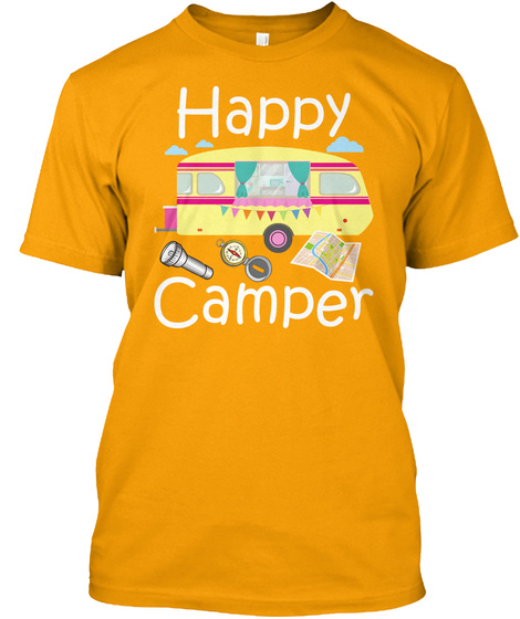 Happy Camper Gold T-Shirt Front