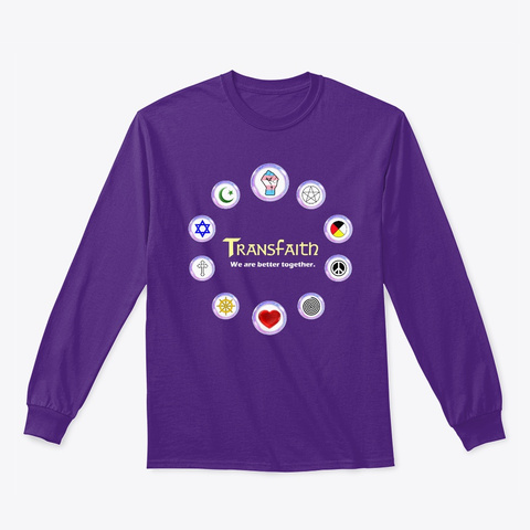 Brilliant And Resilient Launch Sale! Purple Long Sleeve T-Shirt Front