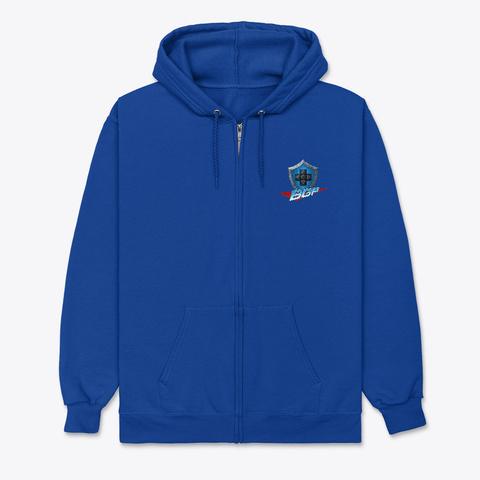 Bgp Zip Hoodie Deep Royal T-Shirt Front