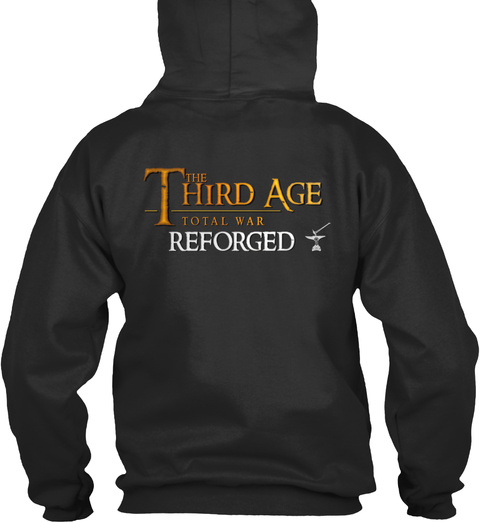 The Third Age Total War Reforged Jet Black T-Shirt Back