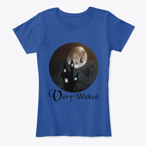 Very Wicked Deep Royal  T-Shirt Front