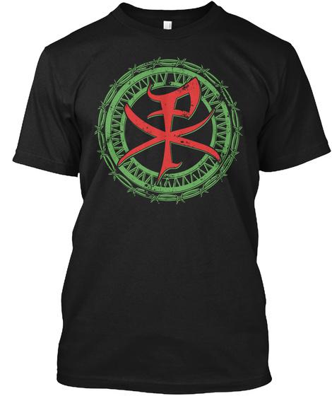 Christus Monogram Black T-Shirt Front