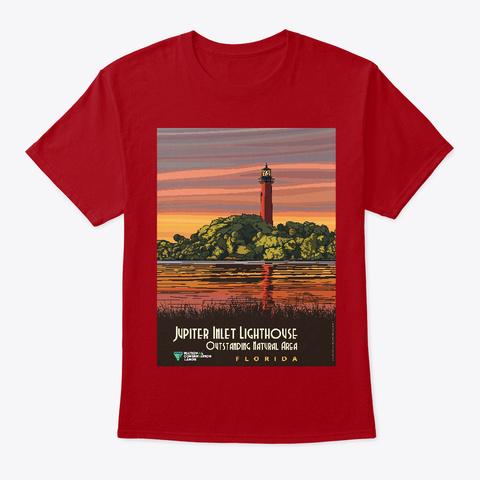 Faro De Florida   Vintage Viaje Deep Red T-Shirt Front