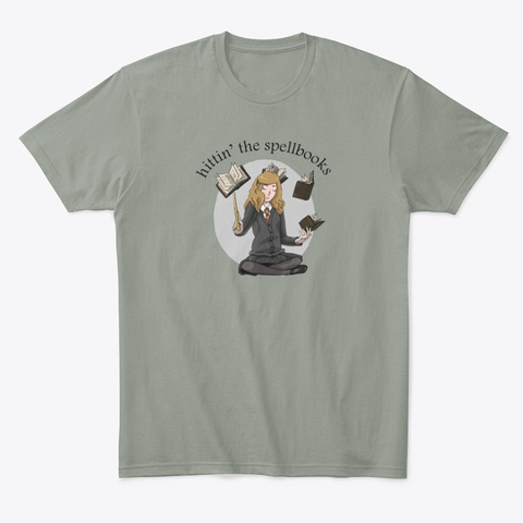 Hittin' The Spellbooks Grey T-Shirt Front