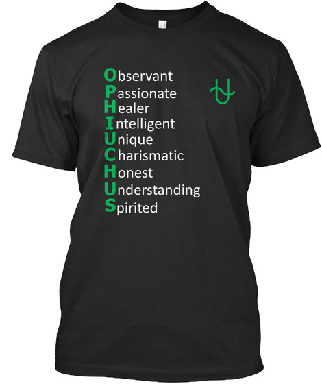 Ophiuchus Personality Black T-Shirt Front