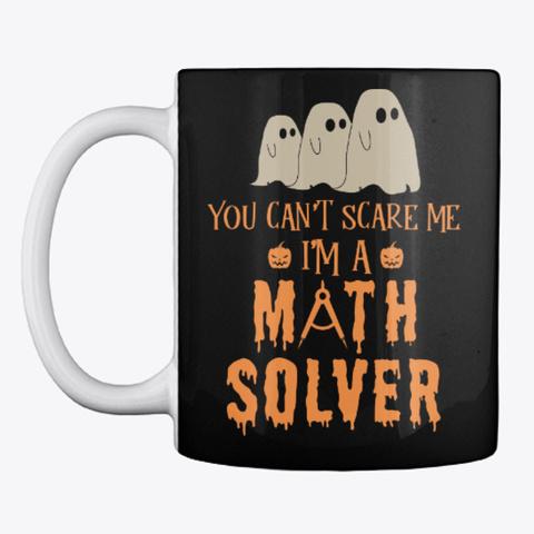 Math Lover Halloween Mug Black Mug Front