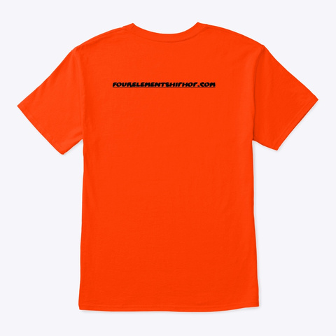 Queens Fer Design Orange T-Shirt Back