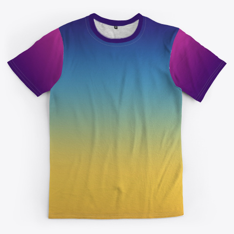 Funky Abstract Color Gradient Standard Camiseta Front