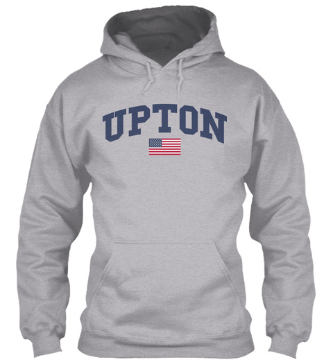 Upton Family Flag Sport Grey T-Shirt Front