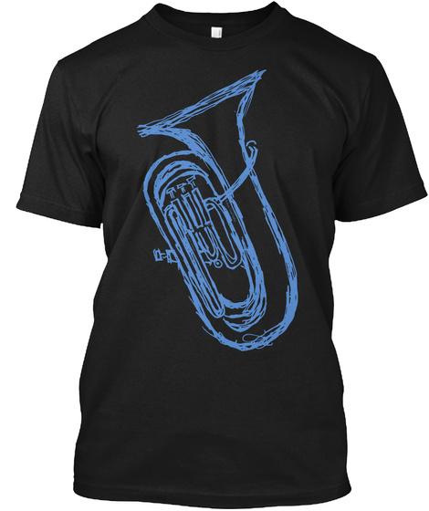 Euphonium Black T-Shirt Front